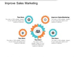 Improve Sales Marketing Ppt Powerpoint Presentation Portfolio Brochure Cpb