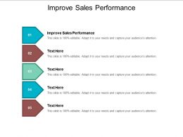 Improve Sales Performance Ppt Powerpoint Presentation File Smartart Cpb