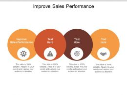 Improve Sales Performance Ppt Powerpoint Presentation Infographic Template Slide Portrait Cpb