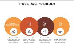 Improve Sales Performance Ppt Powerpoint Presentation Infographic Template Slide Portrait Cpb