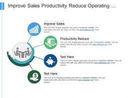 Improve Sales Productivity Reduce Operating Costs Designing Strategy