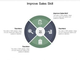 Improve Sales Skill Ppt Powerpoint Presentation Portfolio Deck Cpb