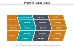 Improve Sales Skills Ppt Powerpoint Presentation File Graphics Example Cpb