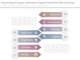 Improve Search Engine Optimization Diagram Powerpoint Slide Download