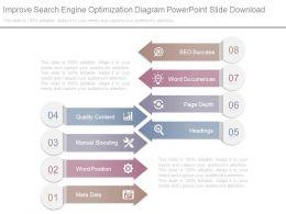 Improve Search Engine Optimization Diagram Powerpoint Slide Download
