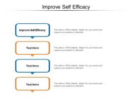 Improve Self Efficacy Ppt Powerpoint Presentation Outline Model Cpb