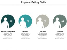 Improve Selling Skills Ppt Powerpoint Presentation Ideas Templates Cpb