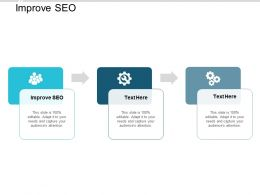 Improve SEO Ppt Powerpoint Presentation Summary Outline Cpb