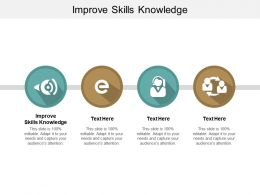 Improve Skills Knowledge Ppt Powerpoint Presentation Gallery Show Cpb