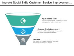 Improve Social Skills Customer Service Improvement Personal Career Management Cpb