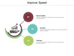 Improve Speed Ppt Powerpoint Presentation Show Summary Cpb
