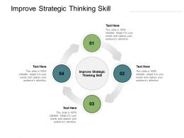 Improve Strategic Thinking Skill Ppt Powerpoint Presentation Visual Aids Cpb