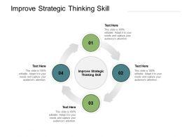 Improve Strategic Thinking Skill Ppt Powerpoint Presentation Visual Aids Cpb