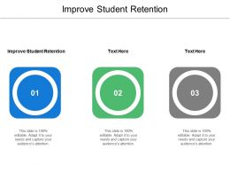 Improve Student Retention Ppt Powerpoint Presentation Icon Vector Cpb
