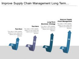 Improve Supply Chain Management Long Term Business Strategy Cpb