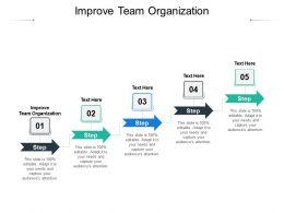 Improve Team Organization Ppt Powerpoint Presentation Model Summary Cpb