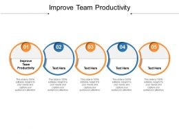 Improve Team Productivity Ppt Powerpoint Presentation Infographics Backgrounds Cpb