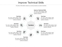 Improve Technical Skills Ppt Powerpoint Presentation Portfolio Samples Cpb