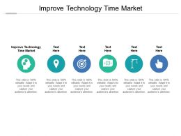 Improve Technology Time Market Ppt Powerpoint Presentation Gallery Show Cpb