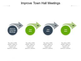 Improve Town Hall Meetings Ppt Powerpoint Presentation Icon Graphics Template Cpb
