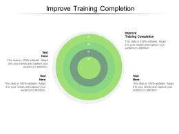 Improve Training Completion Ppt Powerpoint Presentation Professional Design Templates Cpb