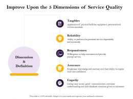Improve Upon The 5 Dimensions Of Service Quality Inspire Ppt Powerpoint Design Ideas