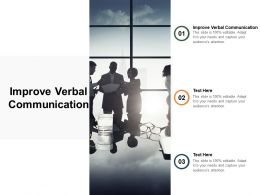 Improve Verbal Communication Ppt Powerpoint Presentation Icon Brochure Cpb