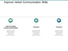 Improve Verbal Communication Skills Ppt Powerpoint Presentation Inspiration Graphics Example Cpb