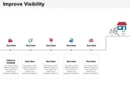 Improve Visibility Ppt Powerpoint Presentation Visual Aids Outline Cpb