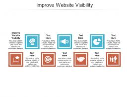 Improve Website Visibility Ppt Powerpoint Presentation Infographic Template Master Slide Cpb