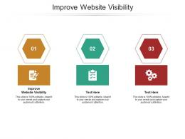 Improve Website Visibility Ppt Powerpoint Presentation Summary Show Cpb