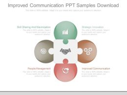 Improved Communication Ppt Samples Download