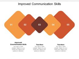 Improved Communication Skills Ppt Powerpoint Presentation Gallery Samples Cpb