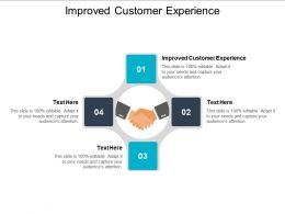Improved Customer Experience Ppt Powerpoint Presentation Inspiration Model Cpb