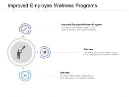 Improved Employee Wellness Programs Ppt Powerpoint Presentation Good Cpb