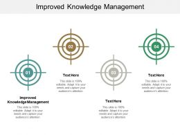 Improved Knowledge Management Ppt Powerpoint Presentation File Maker Cpb
