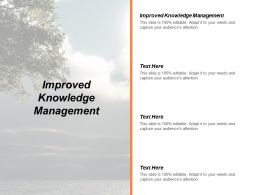 Improved Knowledge Management Ppt Powerpoint Presentation Styles Demonstration Cpb