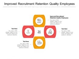 Improved Recruitment Retention Quality Employees Ppt Powerpoint Presentation Outline Cpb