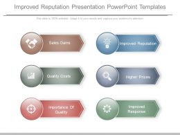 Improved Reputation Presentation Powerpoint Templates