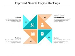 Improved Search Engine Rankings Ppt Powerpoint Presentation Infographic Template File Cpb