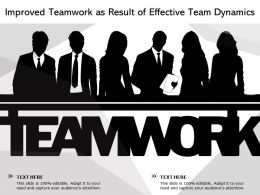 Improved Teamwork As Result Of Effective Team Dynamics