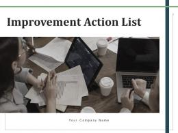 Improvement Action List Documents Assessment Responsible Requirements Process