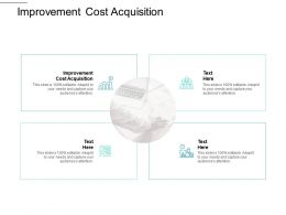 Improvement Cost Acquisition Ppt Powerpoint Presentation Summary Rules Cpb