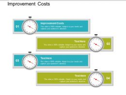 Improvement Costs Ppt Powerpoint Presentation Infographic Template Styles Cpb