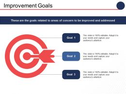 Improvement Goals Arrow Ppt Professional Slide Download