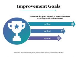 Improvement Goals Portfolio Ppt Powerpoint Presentation Model Graphics Template