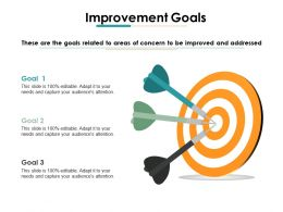 Improvement Goals Ppt Gallery Graphics Pictures