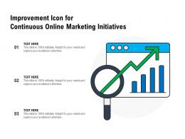 Improvement Icon For Continuous Online Marketing Initiatives