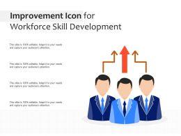 Improvement Icon For Workforce Skill Development