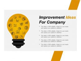 Improvement Ideas For Company Powerpoint Slide Inspiration